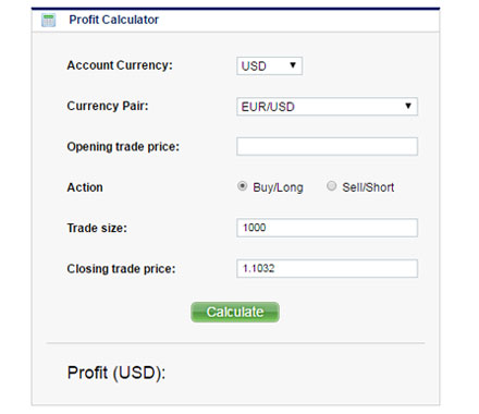 Forex trading profit calculator